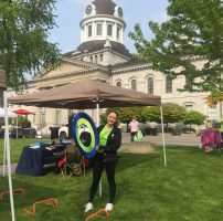 Kingston Gets Active Ambassadors - booth in Confederation Park